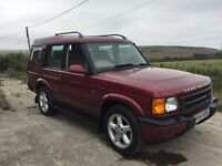 LAND ROVER DISCOVERY 2 2.5 TD5 AUTO RED 2001 LEATHER (7 SEAT)