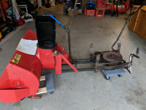 Snowblower for ride on