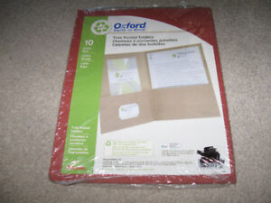 Oxford Twin Pocket Folders-Red-New/Sealed package + more-$5 lot