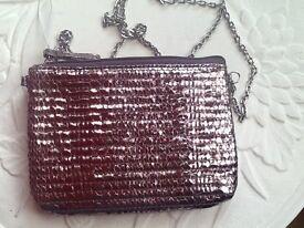 Metalic look cross body/shoulder evening bag NEW