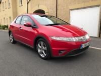 2007 HONDA CIVIC 2.2i-CTDi SE 5DR MALANO RED 6SPD MANONLY TWO PREVIOUS OWNER