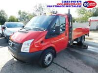 FORD TRANSIT 2.2TDCi 125PS EU5 RWD 350 EF DROPSIDE WITH TAIL LIFT
