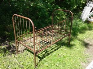 Vintage Metal Crib and Child's Playpen