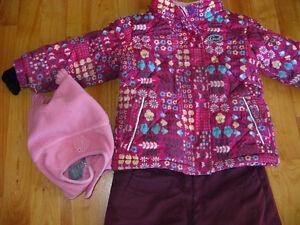 Ensemble hiver manteau et pantalon 3 ans Gusti fille