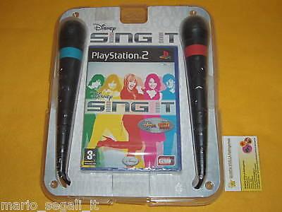 PS2 Disney SING IT ! Camp Rock + 2 microfoni ITA NUOVO