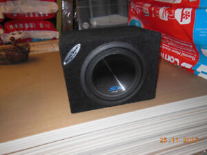 Car Audio Alpine 10 inch subwoofer with box