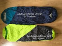 Quechua Sleeping bags for a family of four