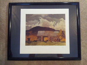 """A.J. Casson """"Barn at Pointe au Chene"""" Litho - Appraised at $600 London Ontario image 5"""
