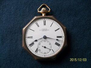 Antiquité: montre de poche mécanique Omega, L.V. Ostander