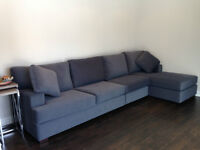 Beautiful custom built sectional couch in mint condition.