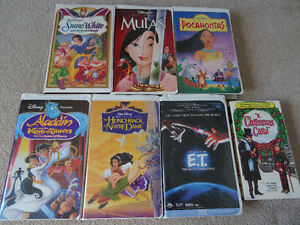 Disney VHS plus E.T. and Christmas Carol VHS for Sale