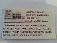 HOMES, GARAGES, RENOVATIONS by Licensed Gold Seal Carpenter