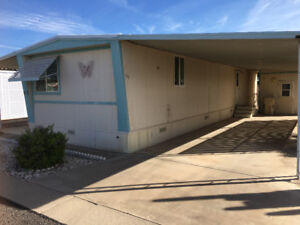 Apache Junction single wide mobile home in a 55+ Park