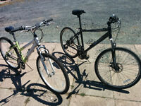 Two adult mountain bikes 60$ for both