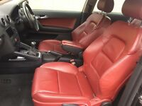 """Audi A3 2.0 TDI Sport Hatchback Diesel S3 Body kit.Vienna Red Leather 18"""" S3 Alloys Swap P.x Welcome"""