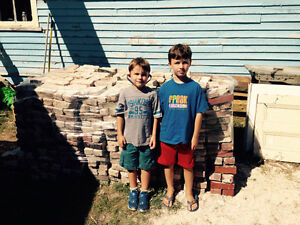+\-1400 reclaimed used bricks clay red solid type $200 for all