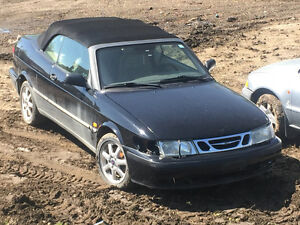 2000 Saab 9-3 Convertible Minor Damage, Not Running