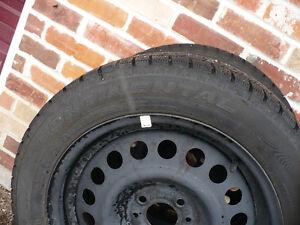 Snow tires and rims. Peterborough Peterborough Area image 3
