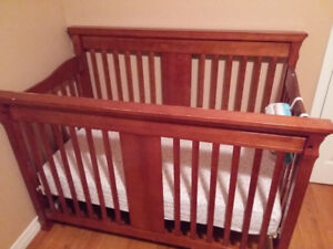 Crib and infant change table