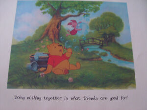 Disney Winnie the Pooh ART LITHOGRAPHS - NEW