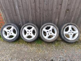 """15"""" Fomb Alloys - 4x108 - Rare - 90s Alloy Wheels"""
