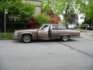 NOT RUSTED! 84 Cadillac Brougham ,newer s/blk.V8