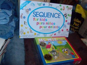 FACTORY SEALED KIDS GAMES SEQUENCE FOR KIDS & MC WIZ JUNIOR