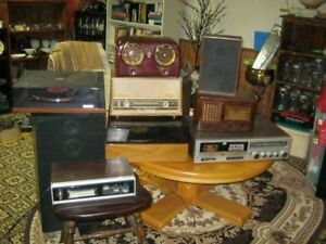 Collection of Old Radios/Turntables