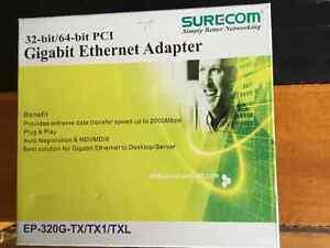 SURECOM 32-BIT/64-BIT PCI GIGABIT ETHERNET ADAPTERS