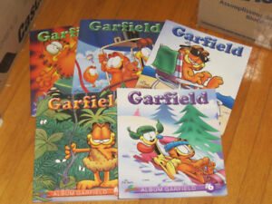 BD     LOT  6 ALBUMS GARFIELD    --PRESSES AVENTURE