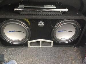 Subs, amplifier, and capacitor 180OBO Kingston Kingston Area image 1