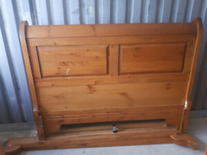 Sleigh bed/bedroom set.