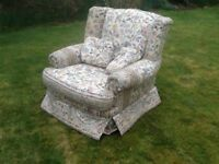 3 piece suite with opening footstool