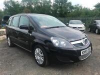 2009 (59 reg) Vauxhall Zafira 1.6 i 16v Life 5dr MPV 7 Seater Petrol 5 Speed