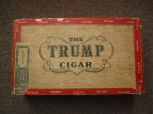 Vintage Trump Cigar Box