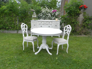 Join me in the Garden for Dinner French Country Dinning room