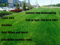 Landscaping/ fall aeration