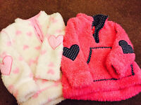 Two girls fluffy pullover/hoodies age 1-1 1/2