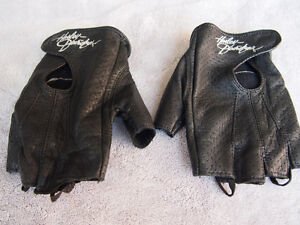 Ladies Harley Leather Open Finger Gloves size M