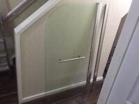 Shower glass screen - bath glass (curtain/shower window)