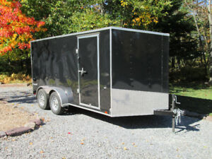 2019 enclosed cargo trailer 7' X 14' +2.5' V nose, RAMP