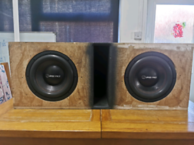 Bass face SPL12.2.4 twin subwoofer in custom ported box
