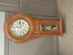 Antique reproduction grandmother clock with chimes