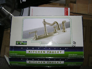 Brushed chrome/ss/alum kitchen faucet plus pull out veg sprayer