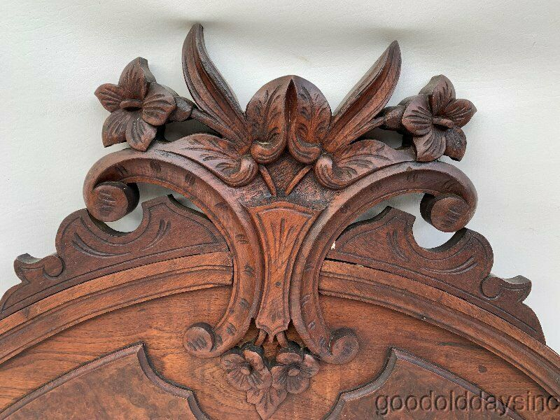 Antique Carved Walnut Crown for Breakfront, Bookcase or Bed Crown
