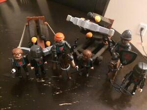 Playmobil - Ensemble de chevalier de l'aigle avec gros balistes