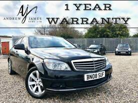 2008 MERCEDES-BENZ C200 2.1TD DIESEL AUTOMATIC BLACK ☆ NEW MOT ☆ FSH ☆ LOW MILES