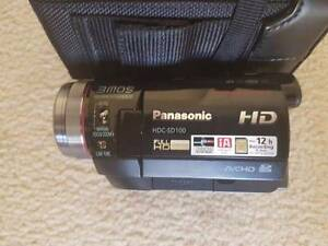 Panasonic HDC-SD100 Camcorder with Tripod and 22GB Memory Cards Ferntree Gully Knox Area Preview