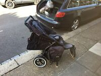 Phil and Ted sports pram- up and down - two children