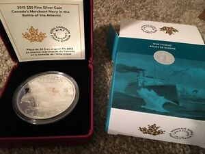 2015 Canadian Merchant Navy $30 Silver coin